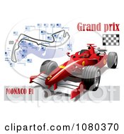Formula One Race Car And Grand Prix Circuit