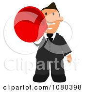 Clipart Business Toon Guy Talking Into A Megaphone Royalty Free Illustration