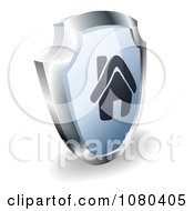 3d Silver And Blue Home Shield