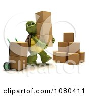 Clipart 3d Tortoise Stacking Moving Or Shipping Boxes Royalty Free CGI Illustration by KJ Pargeter