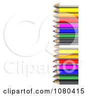 Clipart 3d Right Border Of Colored Pencils Royalty Free CGI Illustration by KJ Pargeter