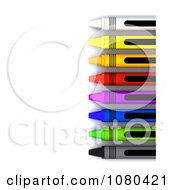 Clipart 3d Right Border Of Crayons With Copyspace Royalty Free CGI Illustration by KJ Pargeter