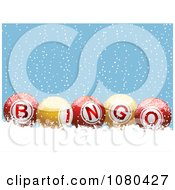 3d Colorful Bingo Balls In The Snow