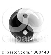 Clipart 3d Yin Yang Circle Royalty Free Vector Illustration