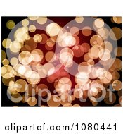 Clipart Orange And Red Bokeh Light Background Royalty Free Illustration