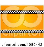 Clipart Taxi Frame Royalty Free Illustration