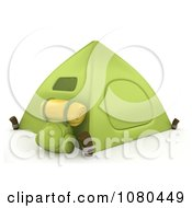 Clipart 3d Green Camping Tent Royalty Free CGI Illustration