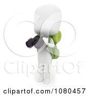 3d Ivory Camper Holding Binoculars
