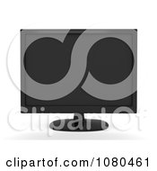 Clipart 3d Black Monitor Royalty Free CGI Illustration