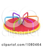 Clipart 3d Colorful Playground Merry Go Round Ride Royalty Free CGI Illustration