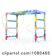 Clipart 3d Colorful Monkey Bars On A Playground Royalty Free CGI Illustration
