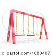 Clipart 3d Colorful Swings On A Playground Royalty Free CGI Illustration by BNP Design Studio