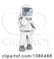 Clipart 3d Astronaut Holding A Thumb Up Royalty Free CGI Illustration