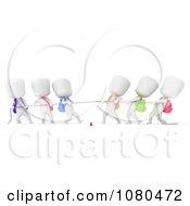 Clipart 3d Ivory School Kids Playing Tug Of War Royalty Free CGI Illustration
