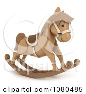 Clipart 3d Toy Rocking Horse Royalty Free CGI Illustration by BNP Design Studio