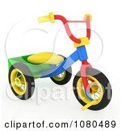 Clipart 3d Toy Trike Royalty Free CGI Illustration