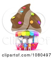 Clipart 3d Ivory School Kids Buying Ice Cream From A Vendor Royalty Free CGI Illustration
