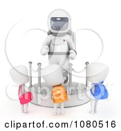 Clipart 3d Ivory School Kids Checking Out An Astronaut Display At A Museum Royalty Free CGI Illustration