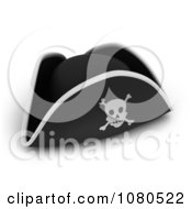 Clipart 3d Pirate Hat With A Skull And Crossbones Royalty Free CGI Illustration