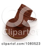 Clipart 3d Gavel And Sound Block Royalty Free CGI Illustration