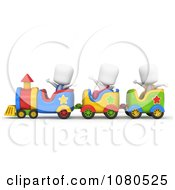 Clipart 3d Ivory School Kids Riding On A Train Royalty Free CGI Illustration