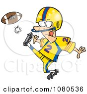 Clipart Football Player Kicking Royalty Free Vector Illustration by toonaday
