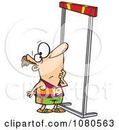 Clipart Male Runner Looking Up At A High Hurdle Royalty Free Vector Illustration by toonaday #COLLC1080563-0008