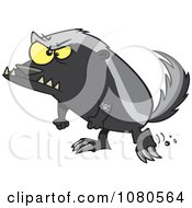Clipart Angry Honey Badger Royalty Free Vector Illustration
