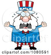 Clipart Chubby Uncle Sam Freaking Out Royalty Free Vector Illustration