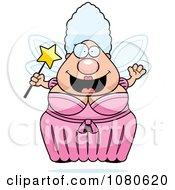 Chubby Fairy Godmother Holding A Wand