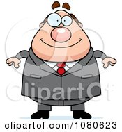 Clipart Chubby Caucasian Businessman Boss Royalty Free Vector Illustration by Cory Thoman
