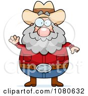 Clipart Chubby Miner Prospector Waving Royalty Free Vector Illustration by Cory Thoman