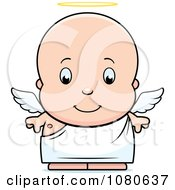 Clipart Cute Baby Boy Angel Royalty Free Vector Illustration by Cory Thoman