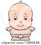 Clipart Cute Baby Boy In Tighty Whities Royalty Free Vector Illustration by Cory Thoman