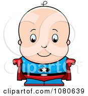 Clipart Cute Baby Boy Super Hero Royalty Free Vector Illustration by Cory Thoman