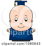 Clipart Cute Baby Boy Professor Or Graduate Royalty Free Vector Illustration