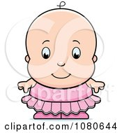 Clipart Cute Ballerina Baby Girl In A Pink Tutu Royalty Free Vector Illustration by Cory Thoman