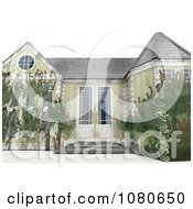 Clipart 3d Overgrown Neglected Foreclosed Home Royalty Free CGI Illustration by Leo Blanchette