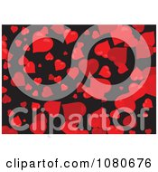 Clipart Red Heart Background Over Black Royalty Free Vector Illustration