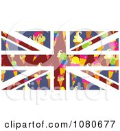Clipart Ice Cream Cone Union Jack Flag Royalty Free Vector Illustration by Prawny