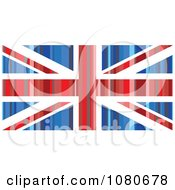 Clipart Striped Union Jack Flag Royalty Free Vector Illustration by Prawny