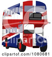 Clipart British Flag Double Decker Bus Royalty Free Illustration