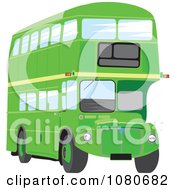 Clipart Green Double Decker Bus Royalty Free Vector Illustration