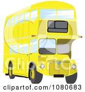 Clipart Yellow Double Decker Bus Royalty Free Vector Illustration
