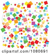 Clipart Colorful Pixel Background On White Royalty Free Vector Illustration