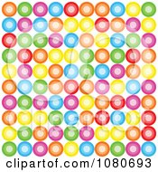 Clipart Colorful Retro Circle Background Over White Royalty Free Vector Illustration