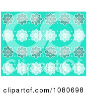 Clipart Turquoise Flower Pattern Background Royalty Free Illustration