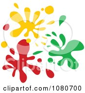 Clipart Yellow Green And Red Splatters Royalty Free Vector Illustration by Prawny