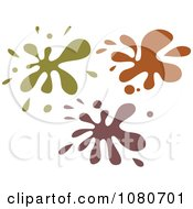 Clipart Green And Brown Splatters Royalty Free Vector Illustration by Prawny