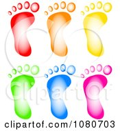 Clipart Colorful Footprints Royalty Free Illustration by Prawny